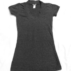 ❤️❤️ Grey Wet Seal Short Sleeve V Neck Gray ❤️❤️